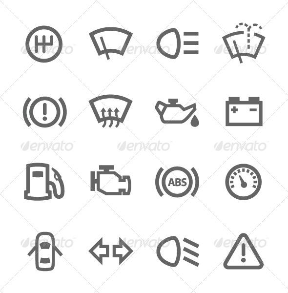 auto icons graphicriver. Black Bedroom Furniture Sets. Home Design Ideas