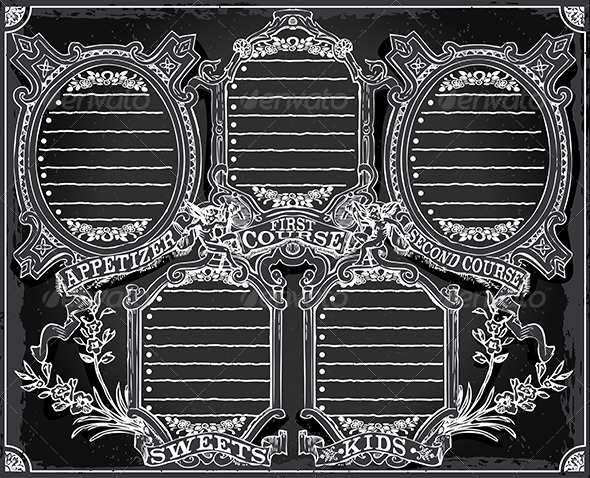 GraphicRiver Vintage Graphic Blackboard Menu for Restaurant 7564582