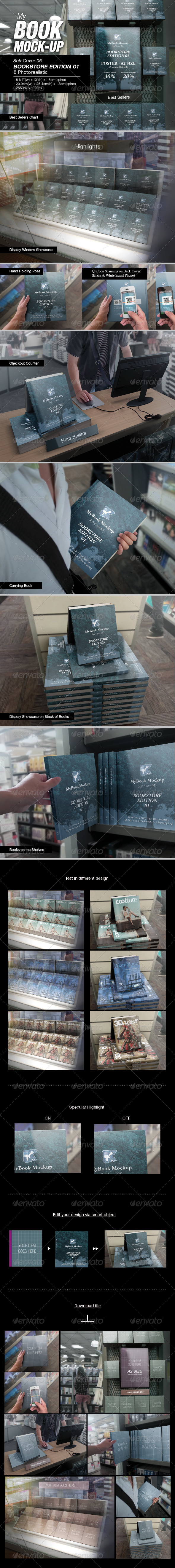 GraphicRiver MyBook Mock-up Bookstore Edition 01 7549686