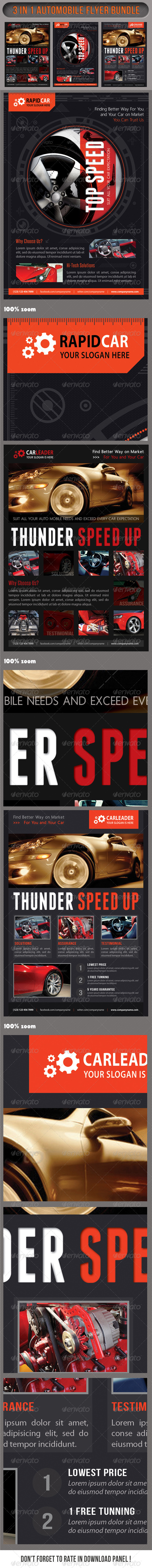 GraphicRiver 3 in 1 Auto Mobile Multipurpose Bundle 01 7564642
