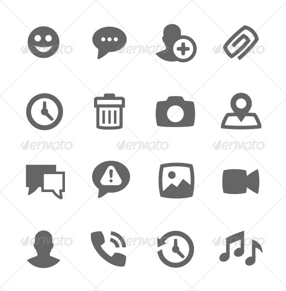 GraphicRiver Chat Icons 7564651