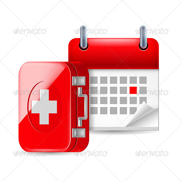 Aid and Calendar Icon