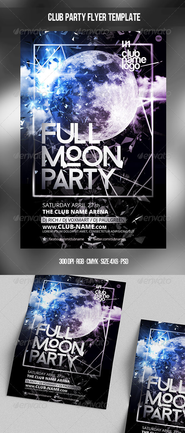 GraphicRiver Full Moon Party Template 7564742