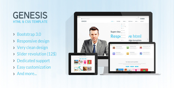ThemeForest Genesis Responsive HTML5 Template 7245285
