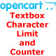 Opencart: Textbox Character Limit and Counter