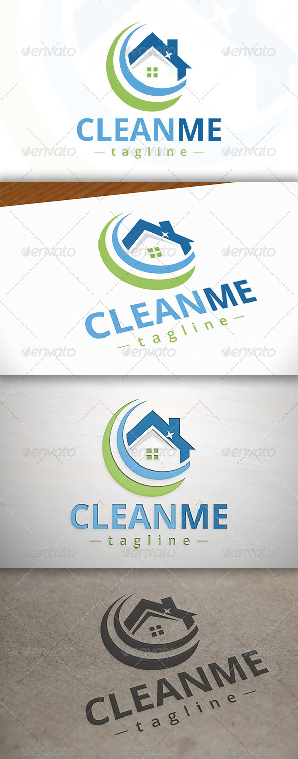GraphicRiver Clean House Logo 7521524