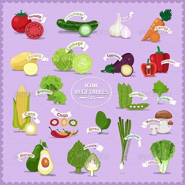 GraphicRiver Vegetables Set 7531082