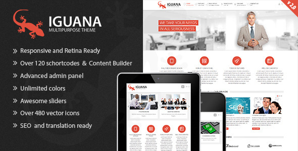 Iguana - Responsive Multi-Purpose WordPress Theme - Corporate WordPress