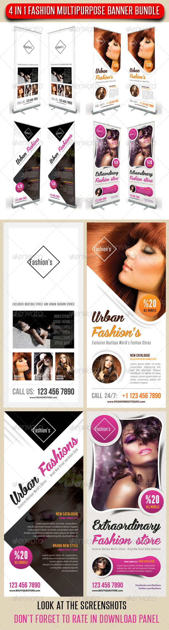 GraphicRiver 4 in 1 Fashion Multipurpose Banner Bundle 11 7565193
