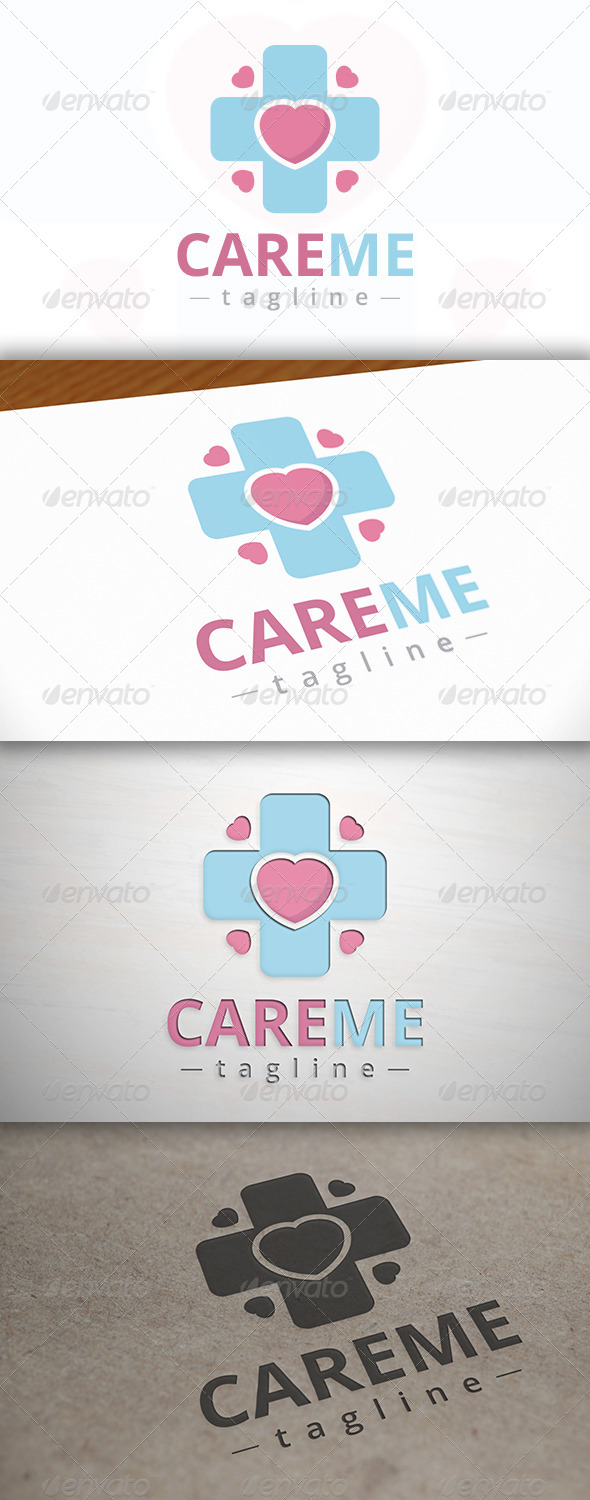 GraphicRiver Care Cross Logo 7565305