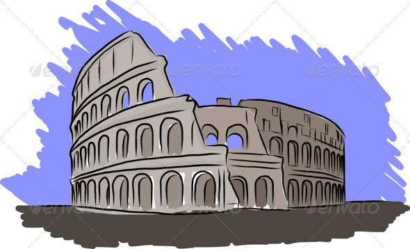GraphicRiver Colosseum Sketch 7565312