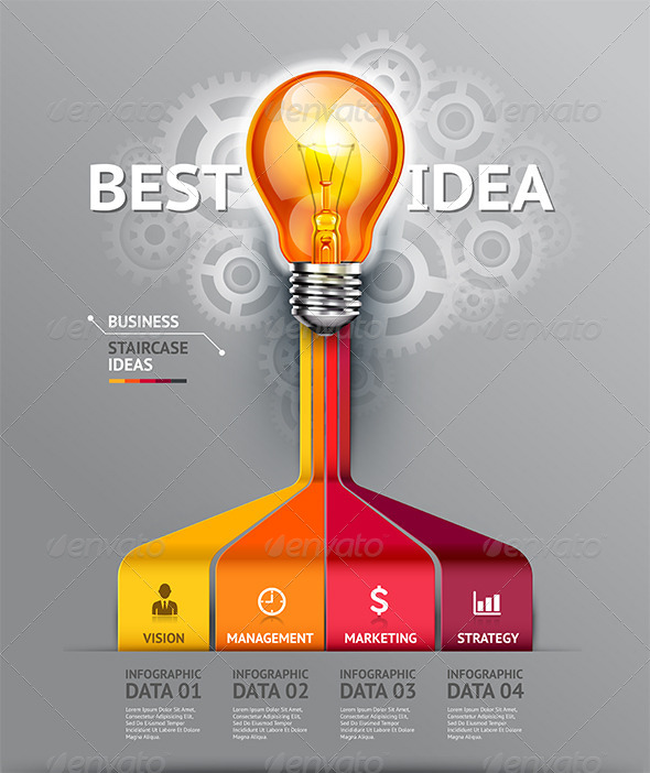 GraphicRiver Business Lightbulb Infographic Idea Template 7547961