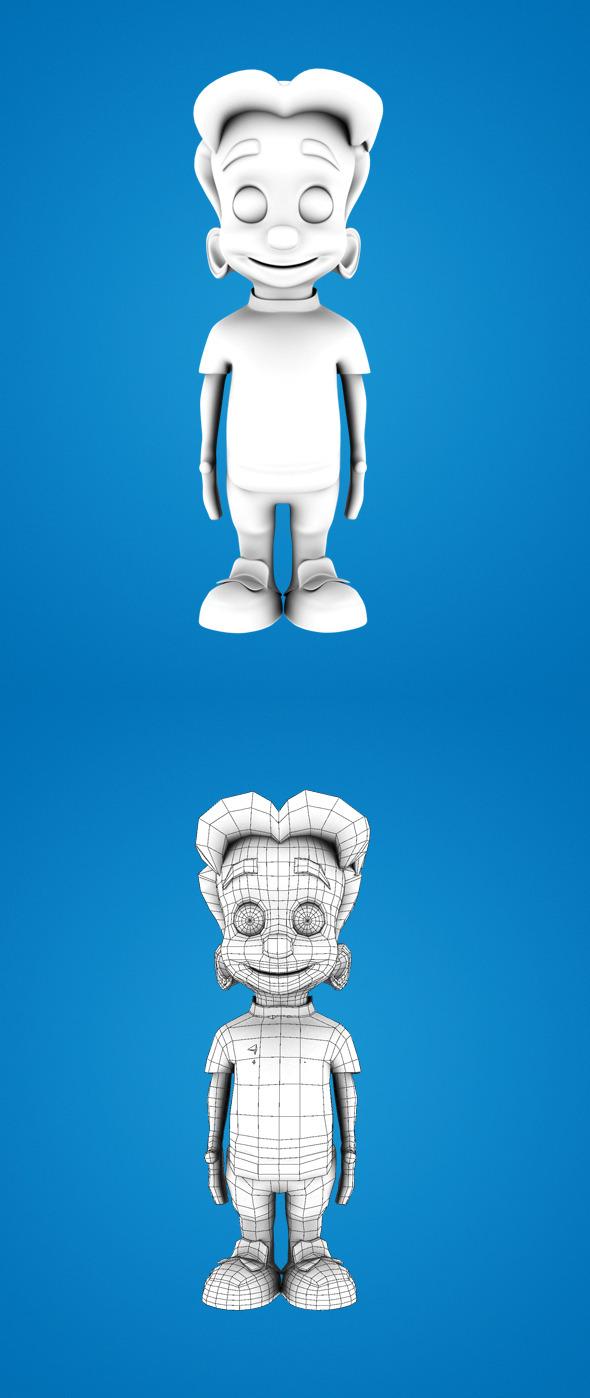 3DOcean Base Mesh Cartoon Boy 7565729