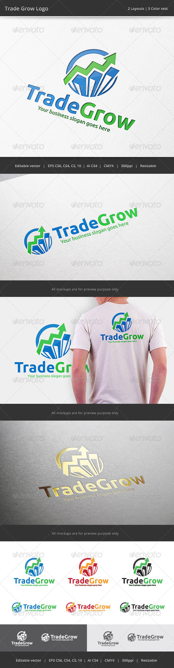 GraphicRiver Trade Grow Finance Logo 7565732