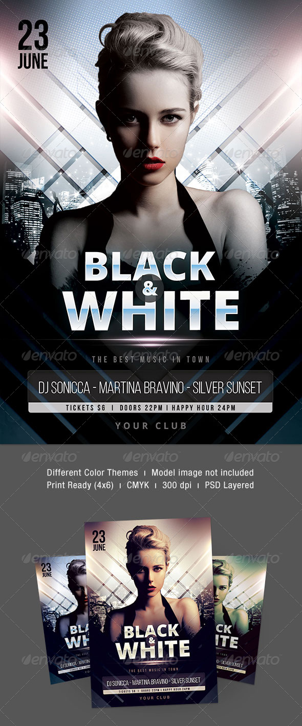 GraphicRiver Black & White Flyer 7565748