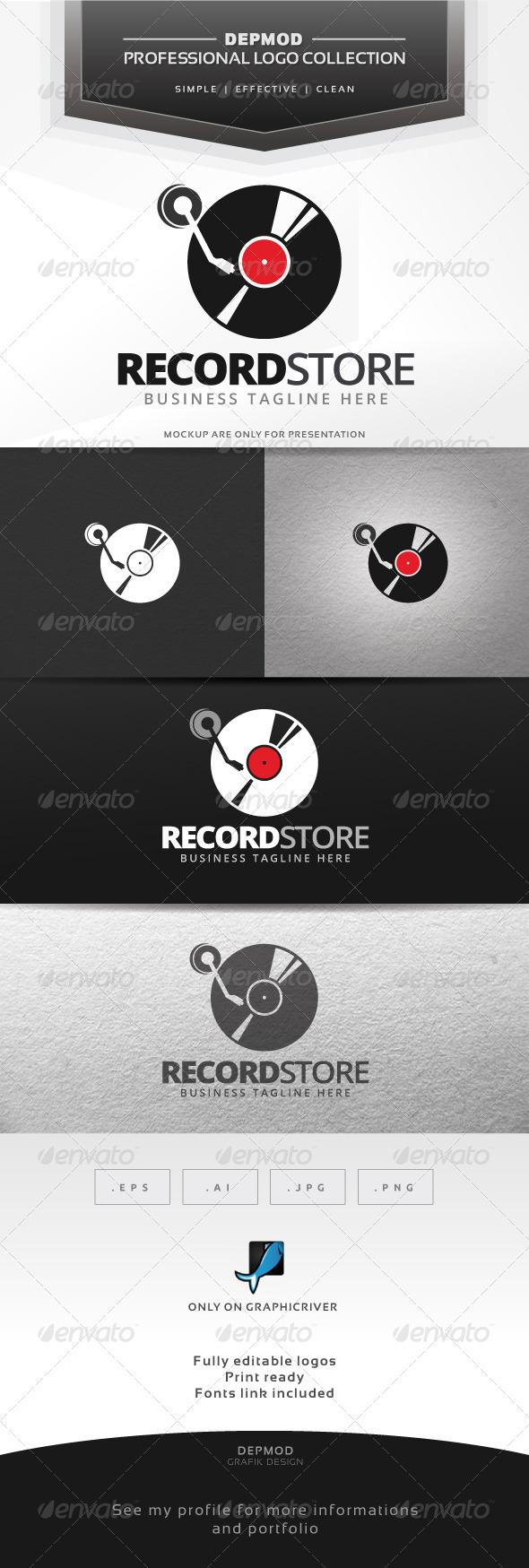 GraphicRiver Record Store Logo 7565758