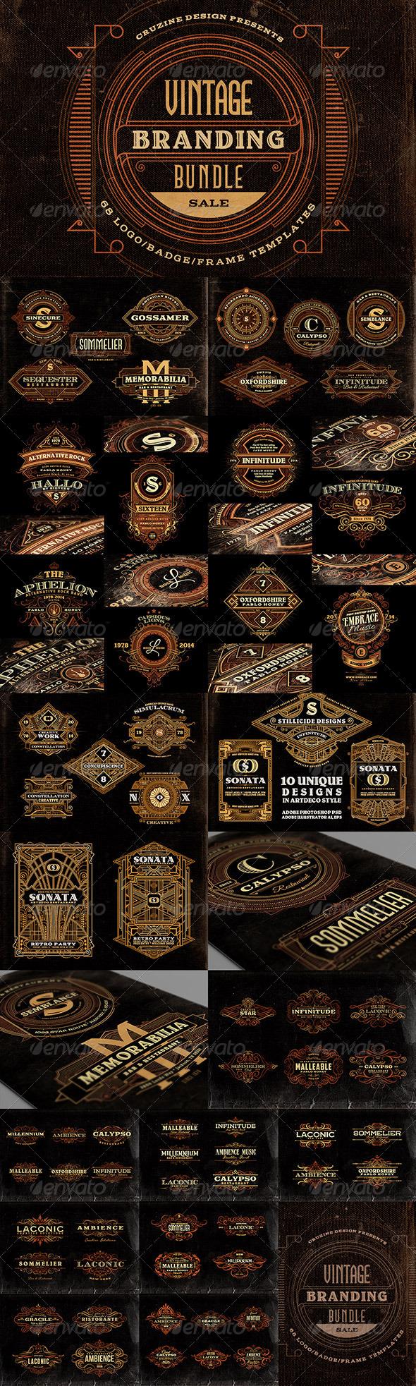 GraphicRiver Vintage Branding Bundle 7566228