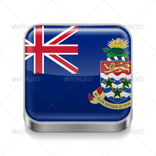 GraphicRiver Metal Icon of Cayman Islands 7566238