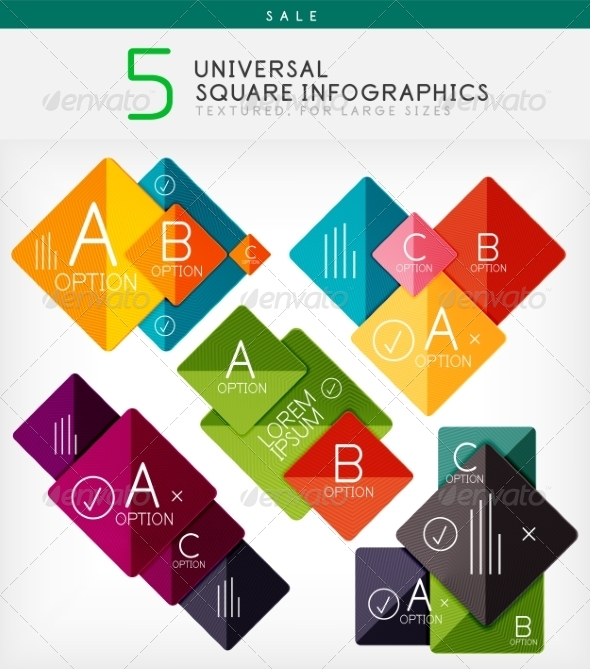 GraphicRiver Square Infographics Option Banners Collection 7566374