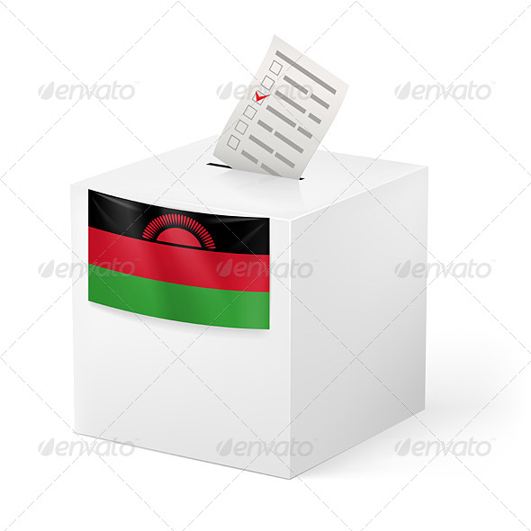 GraphicRiver Ballot Box with Voting Paper Malawi 7566410