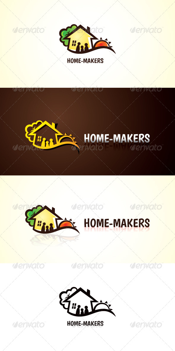 GraphicRiver Home Makers Stock Logo Template 7566448