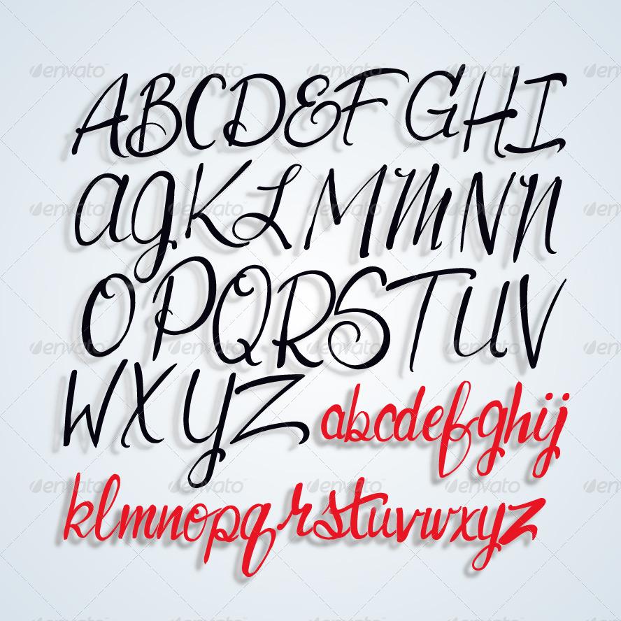 Alphabet Script Lettering