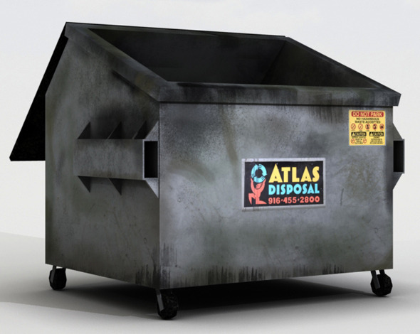 Lowpoly Dumpster - 3DOcean Item for Sale