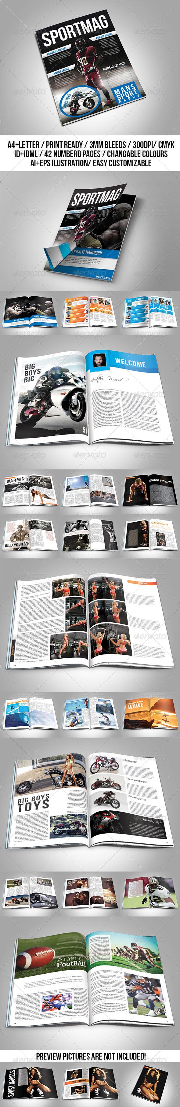 GraphicRiver Sport Magazine Template 7532894