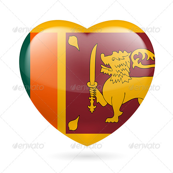 GraphicRiver Heart Icon of Sri Lanka 7567453