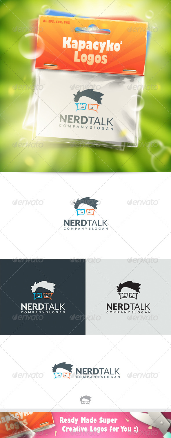 GraphicRiver Nerd Talk Logo 7567694