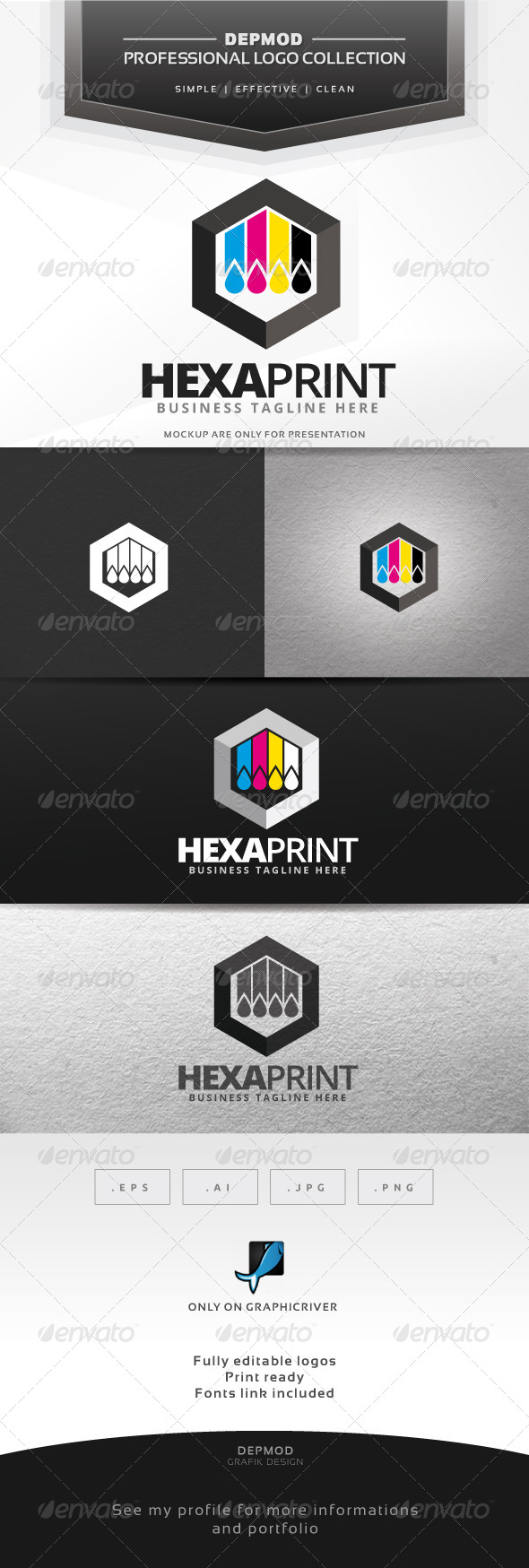 GraphicRiver Hexa Print Logo 7567699