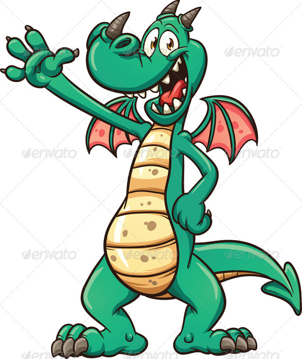 GraphicRiver Cartoon Dragon 7567804
