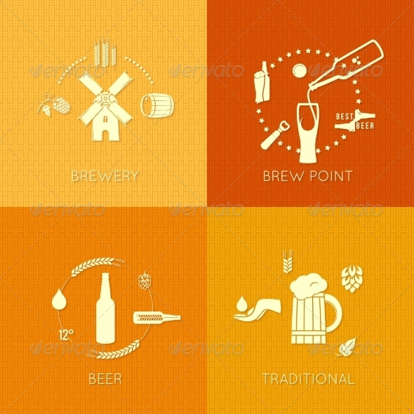 GraphicRiver Beer Flat Set of Icons Design Background 7568269