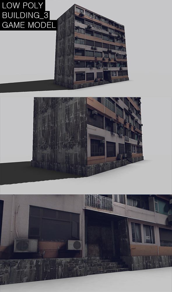 3DOcean Low Poly Building 3 Game Model 7568273