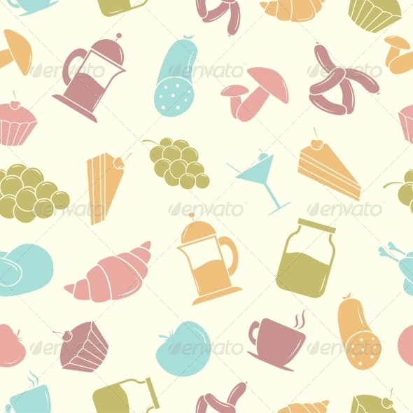 GraphicRiver Seamless pattern with Food 7568407