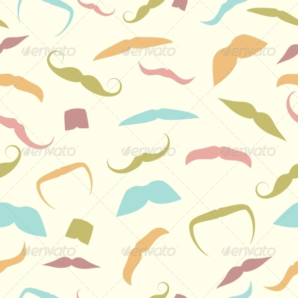 GraphicRiver Seamless Pattern of Mustaches 7568413