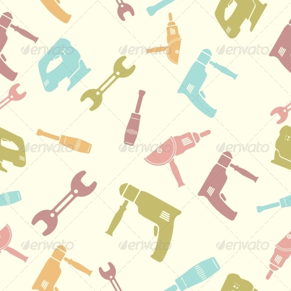 GraphicRiver Seamless Pattern of Tools 7568414