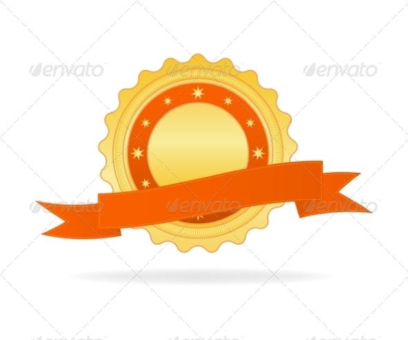 GraphicRiver Golden Badge 7568425