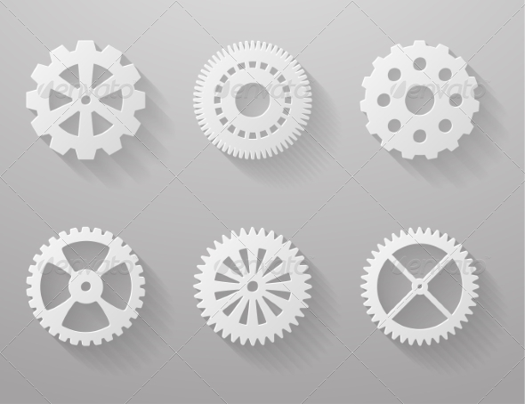 GraphicRiver Set of Paper Gears 7568464