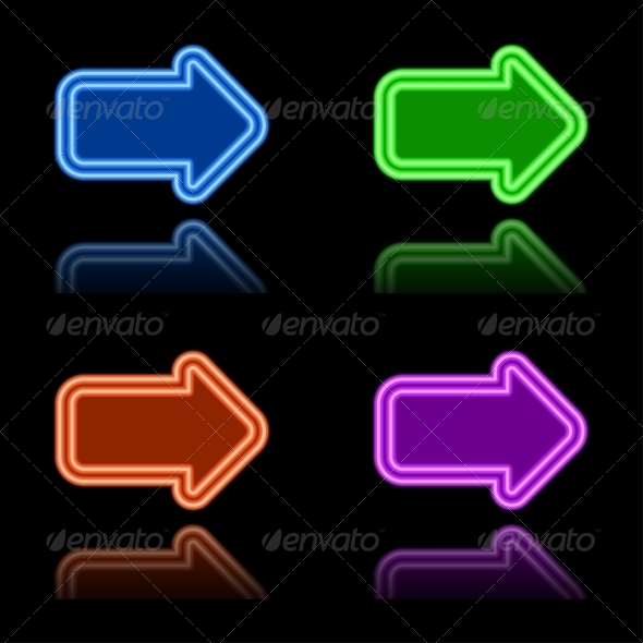 GraphicRiver Neon Arrows 7568475