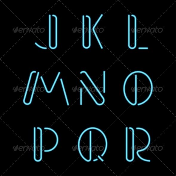 GraphicRiver Neon Letters 7568505