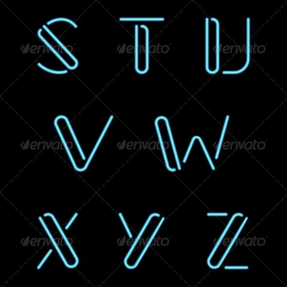 GraphicRiver Neon Letters 7568602