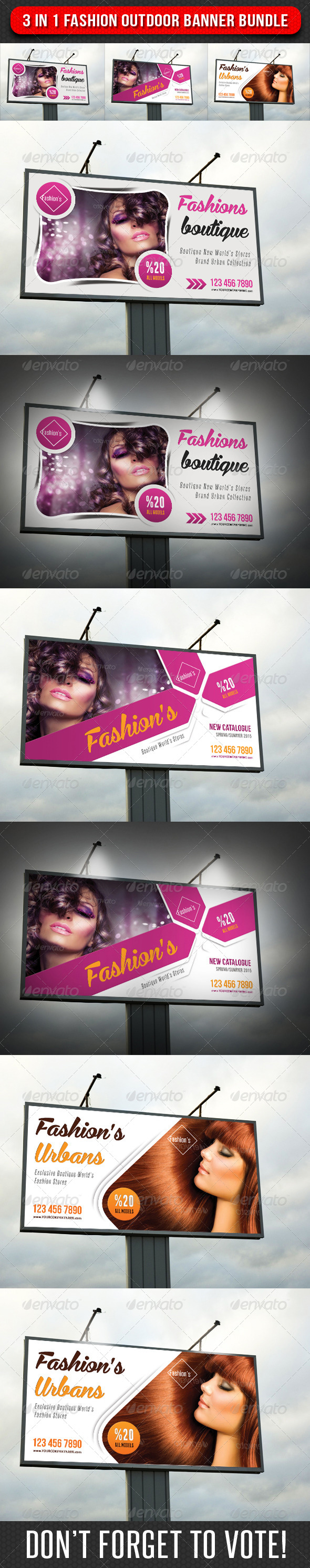 GraphicRiver 3 in 1 Fashion Outdoor Banner Bundle 03 7568608