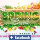 Spring Break Facebook Template  - GraphicRiver Item for Sale