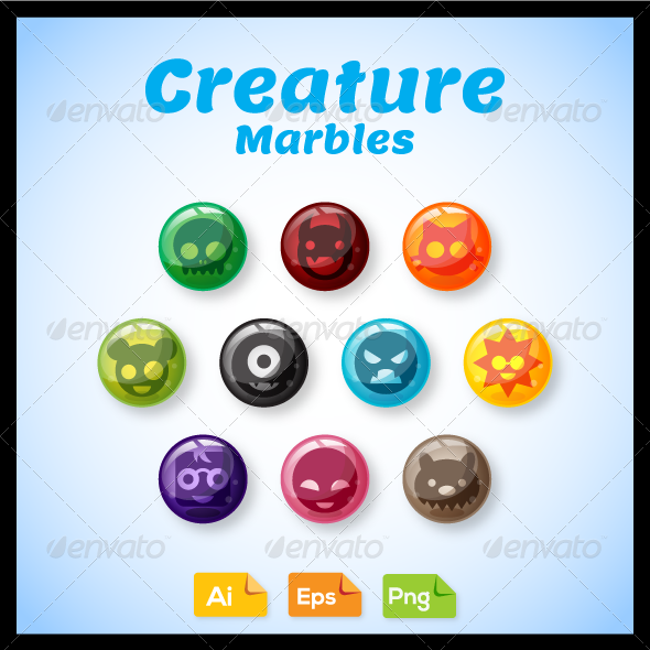 GraphicRiver Game Asset Creature Marbles 7568627
