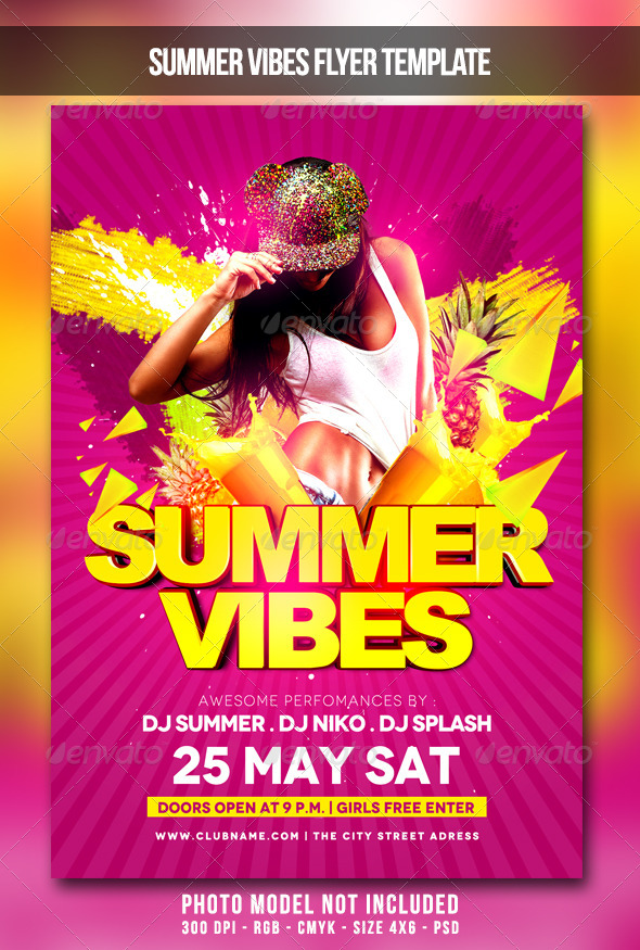 GraphicRiver Summer Vibes Flyer 7569041
