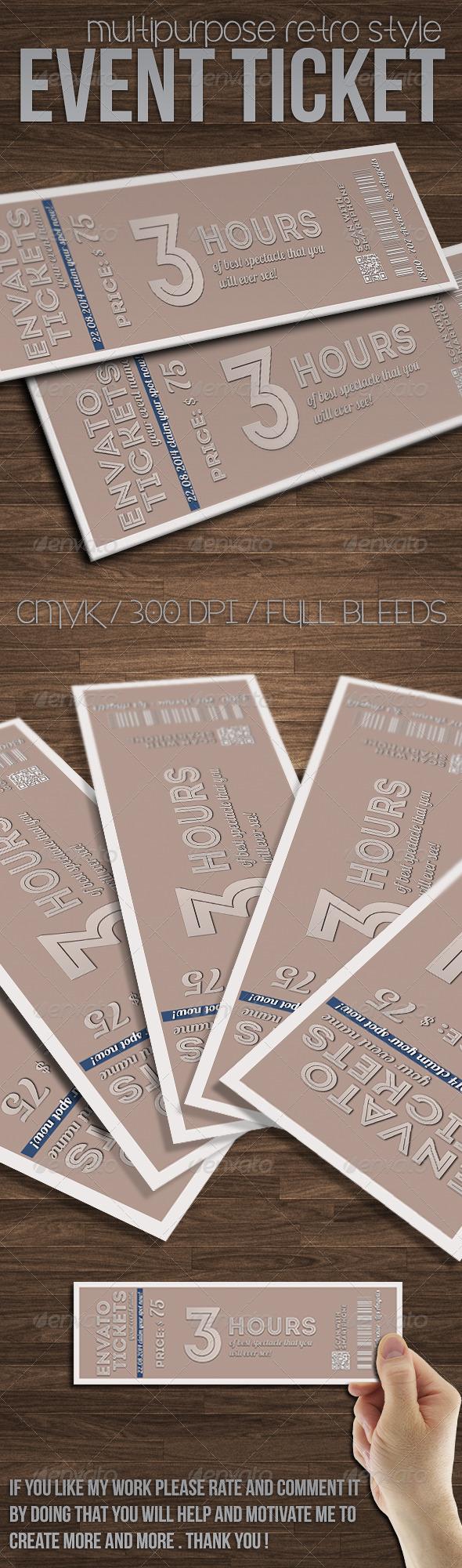 GraphicRiver Multipurpose minimal event ticket 7569124