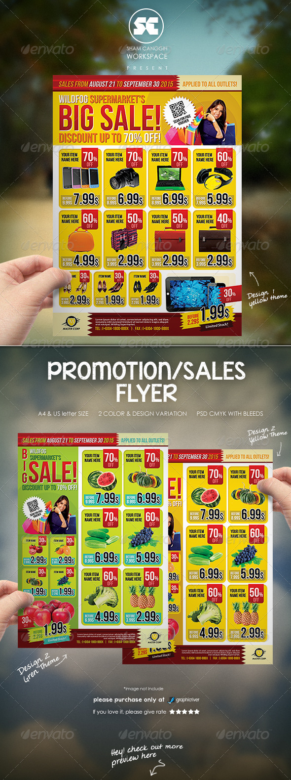 supermarket flyer template