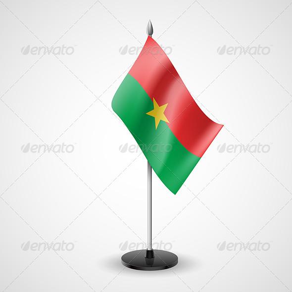 Table Flag of Burkina Faso