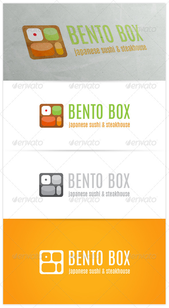 GraphicRiver Bento Box Japanese Restaurant Logo 7569333